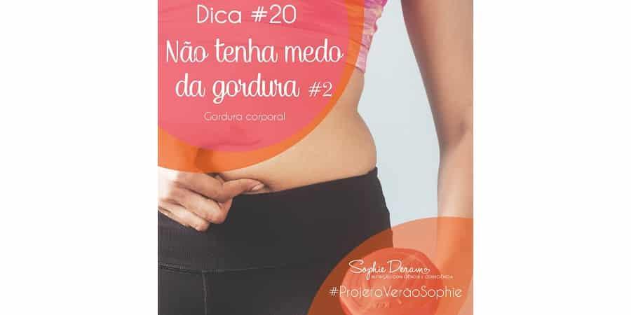 Dica 20 – Não tenha medo da gordura corporal