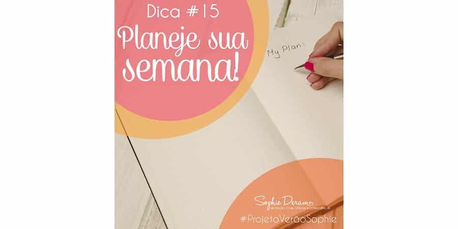 Dica 15 – Planeje sua semana