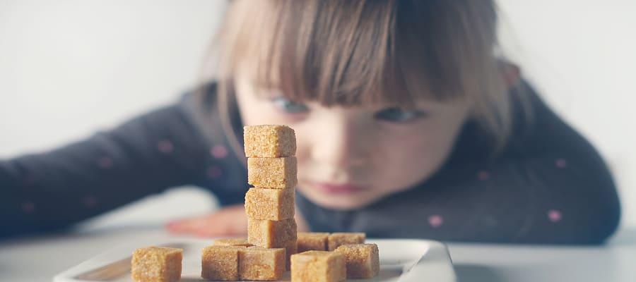 Consumo de açúcar para criança
