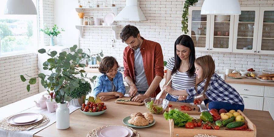 comer em familia na quarentena